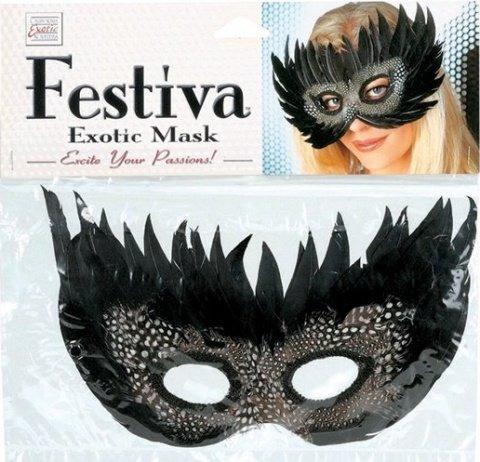 Чёрная маска festiva, фото 2