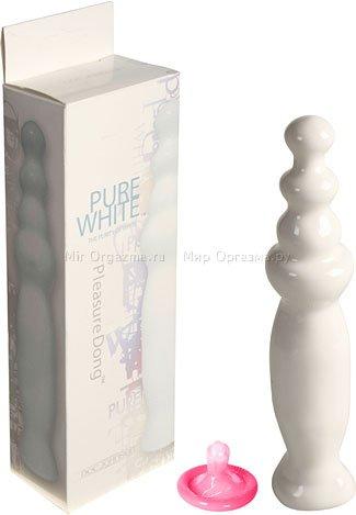 Анальный стимулятор Pure white Pleasure Dong 19 см, фото 2