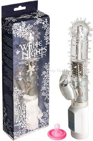 Вибратор с ротацией White nights 16 см, фото 2