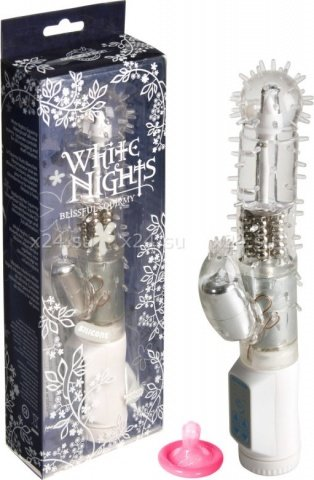 Вибратор с ротацией White nights 16 см, фото 5