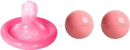 Металлические шарики Ben-wa balls, розовый