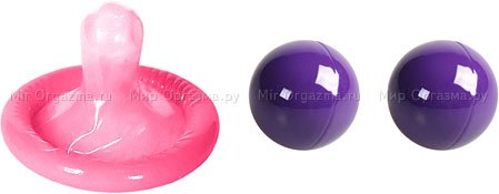 Металлические шарики Ben-wa balls, фиолетовый