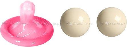Металлические шарики Ben-wa balls, кремовый
