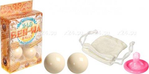 Металлические шарики Ben-wa large, кремовый, фото 3