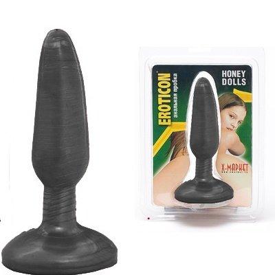 Пробка анальная Eroticon Honey dolls, черный, фото 3