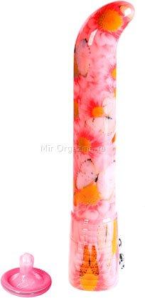 Вибратор Eroticon G glamour, розовый; бабочки