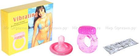 Кольцо эрекционное Vibrating condom, фото 2