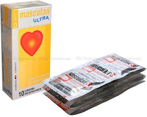 Презервативы masculan ultra тип 3 10 продлевающий (с колечками, пупырышками и анестетиком)
