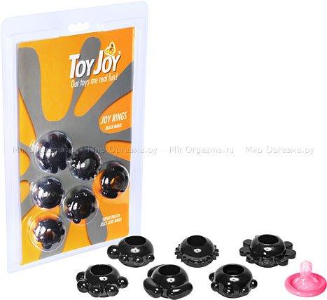 Набор эрекционных колец Joy Rings, черный, фото 2