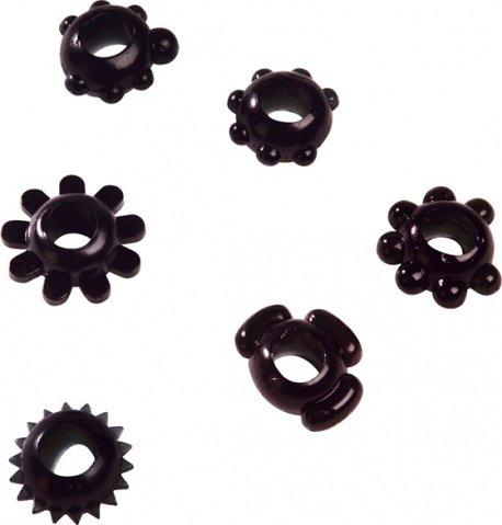 Набор эрекционных колец Joy Rings, черный, фото 3