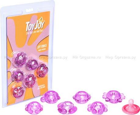 Набор эрекционных колец Joy Rings, фиолетовый, фото 2
