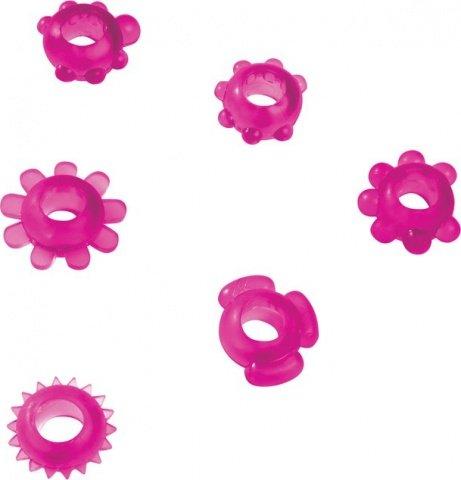 Набор эрекционных колец Joy Rings, фиолетовый, фото 3