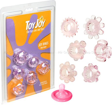 Набор эрекционных колец Joy Rings, розовый, фото 2