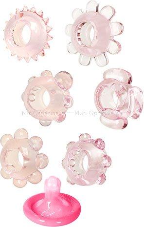 Набор эрекционных колец Joy Rings, розовый