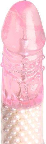Вибратор с вращением Disco Rabbit 18 см, розовый, фото 4