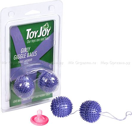 Шарики с шипами d 3,4 см, фиолетовый, фото 2
