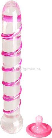 Стеклянный фаллоимитатор Sparcle Scepter 22 см