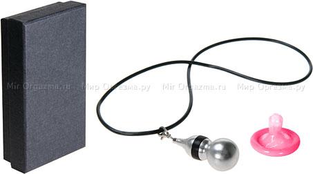 Кулон-вибратор, серый, фото 2