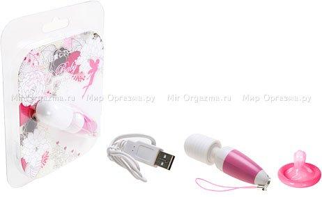 Мини-вибратор в виде брелока (10 режимов) Rechargeable AV, фото 2