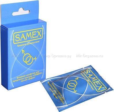Салфетки Samex влажные для продления эрекции (легкий эффект)