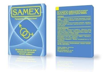 Салфетки Samex влажные для продления эрекции (легкий эффект), фото 2