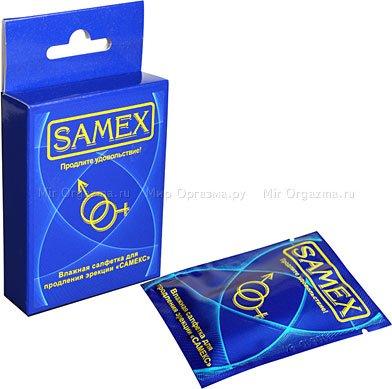 Салфетки Samex влажные для продления эрекции (средний эффект)