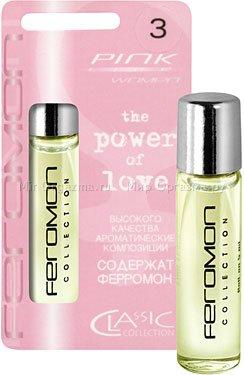 Духи с ферромонами женские серии pink аромат green tea