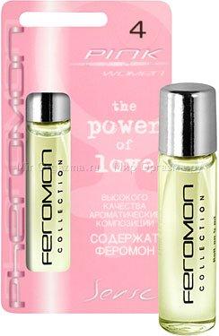 Духи с ферромонами женские серии pink аромат tendre poison