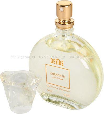 Духи с феромонами для женщин с темными волосами, Desire Orange