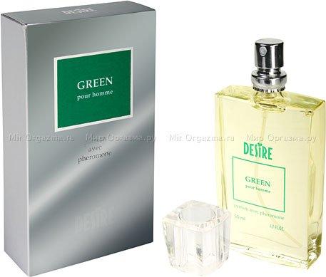 Духи с феромонами для мужчин со светлыми волосами, Desire Green, фото 2
