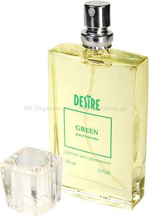 Духи с феромонами для мужчин со светлыми волосами, Desire Green