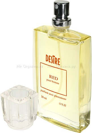 Духи с феромонами для мужчин с темными волосами, Desire Red