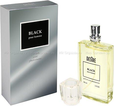Духи с феромонами для мужчин с темными волосами, Desire Black, фото 2