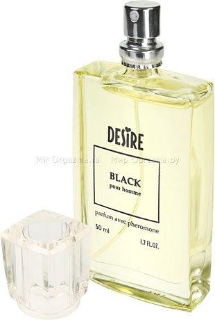 Духи с феромонами для мужчин с темными волосами, Desire Black