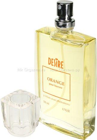 Духи с феромонами для мужчин с темными волосами, Desire Orange