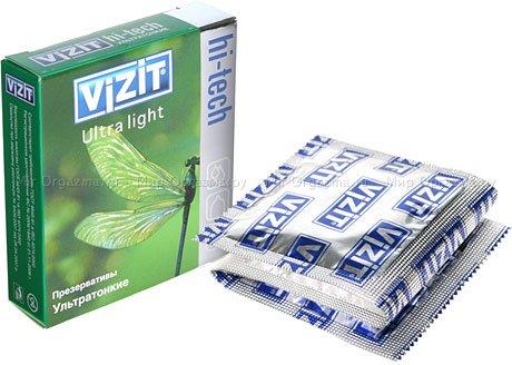 Презервативы vizit hi-tech ultra light ультратонкие 3 шт