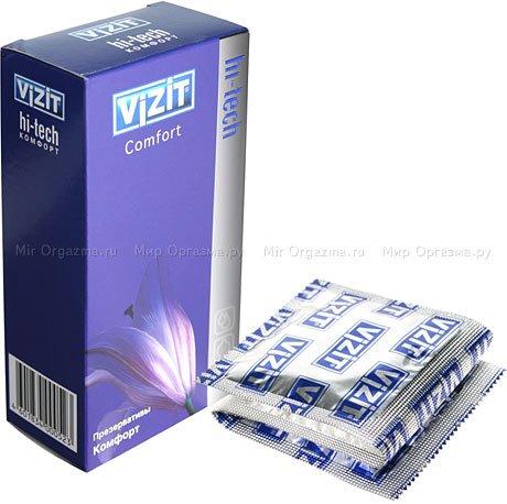 Презервативы vizit hi-tech comfort комфорт 12 шт