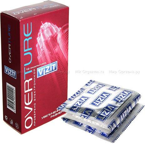 Презервативы vizit overture увеличенного размера 12 шт
