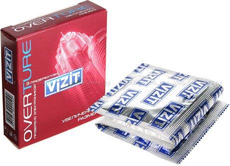 Презервативы vizit overture увеличенного размера 3 шт