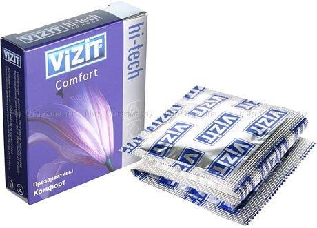 Презервативы vizit hi-tech comfort комфорт 3 шт