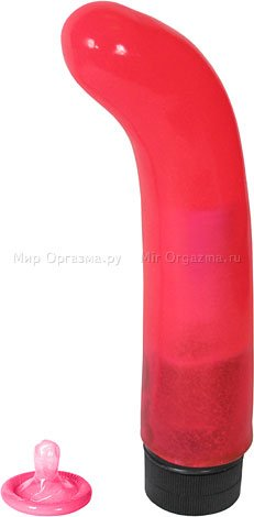 Вибратор розовый Jelly Version 19,5 см