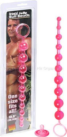 Анальные шарики Oriental Jelly Butt Beads 26,7 см, фото 2