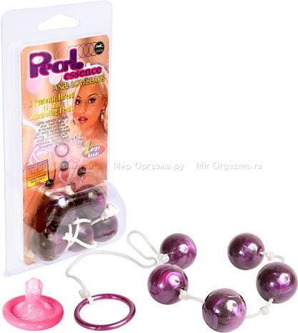 Анальные шарики Pearl essence 2 см, фиолетовый, фото 2