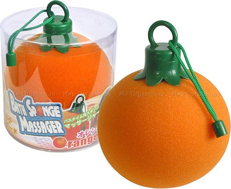 Вибромочалка апельсин 14 см, фото 2