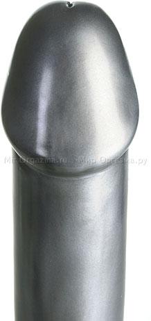 Фаллос Hoof Power 23 см, серебряный, фото 3
