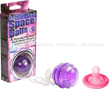 Шарик с вибрацией Space Balls, фиолетовый, фото 2