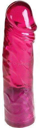 Фаллос поясной бордовый Powerlock harness 18 см, фото 4